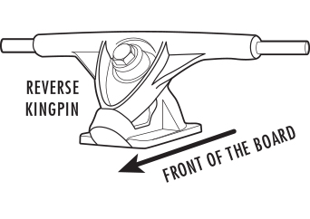 Reverse Kingpin Skate Trucks