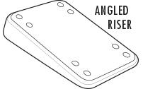 Angled Skateboard Riser Pads