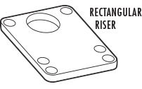 Rectangular Skateboard Riser Pads