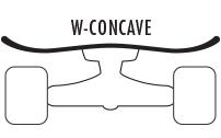 W Concave Skateboard Deck