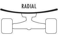 Radial Concave Skateboard Deck