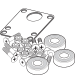 Skateboard Hardware, Skateboard Bearings, Grip Tape and Riser Pads