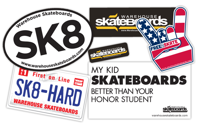 Warehouse Assortment Pack of 10 Skate Stickers