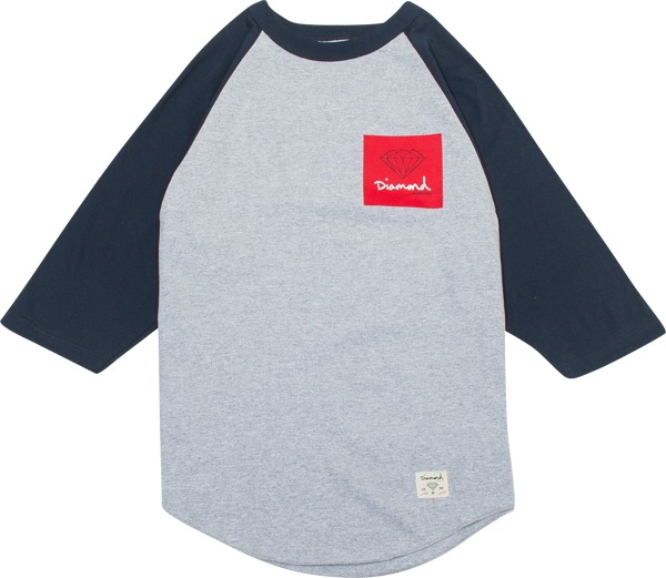 Diamond OG Sign Raglan 3/4 Sleeve T-Shirt