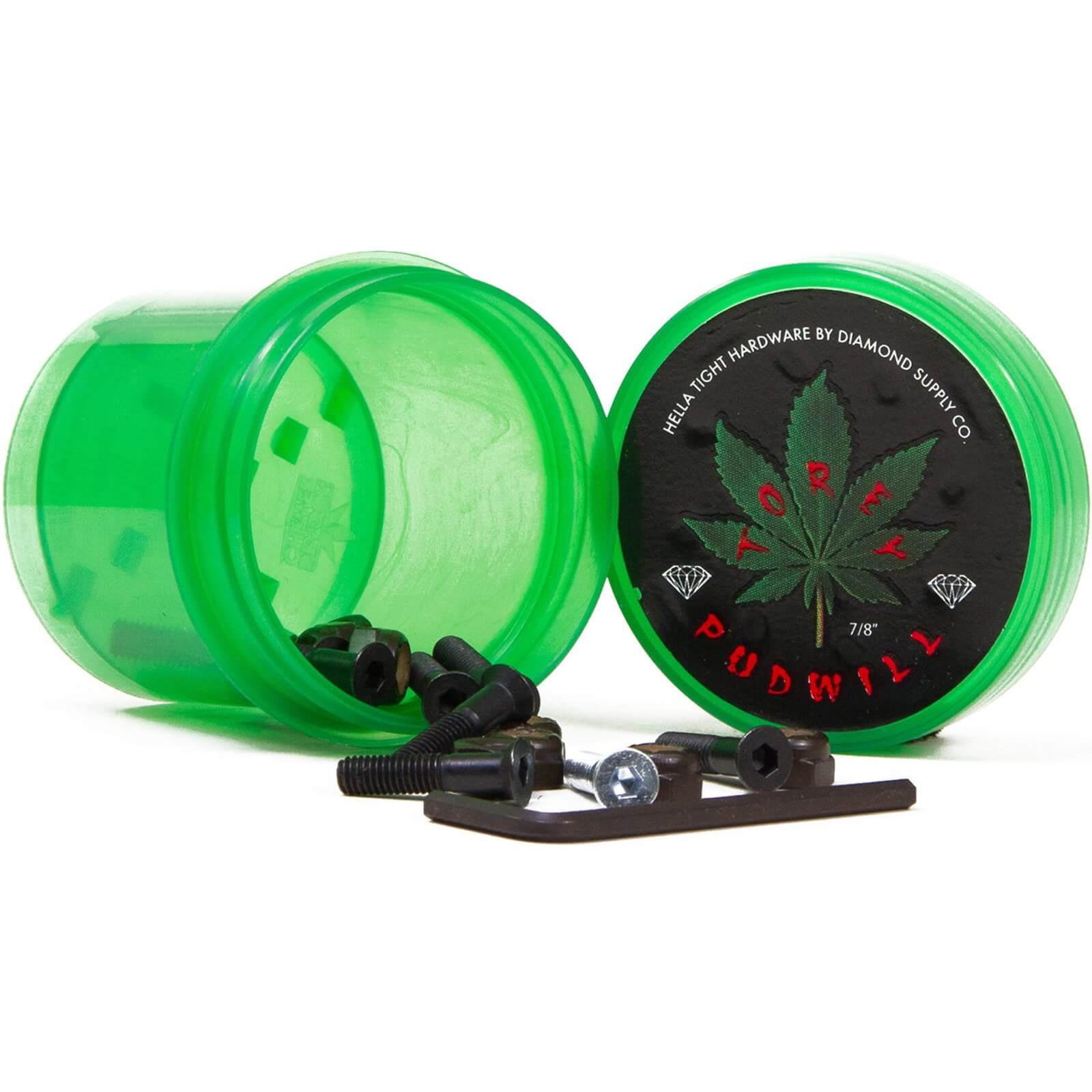 """Diamond Torey Pudwill Allen Hella Tight Allen with Green Grinder Skateboard Hardware Set - 7/8"""""""
