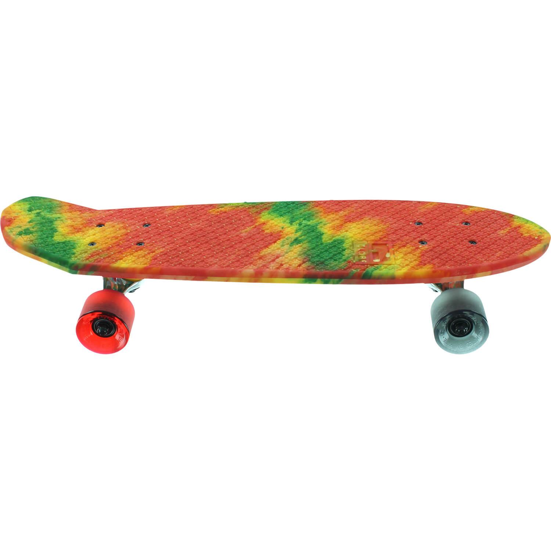 Globe Bantam Rasta Fire Dye Complete Skateboard 7 X 24