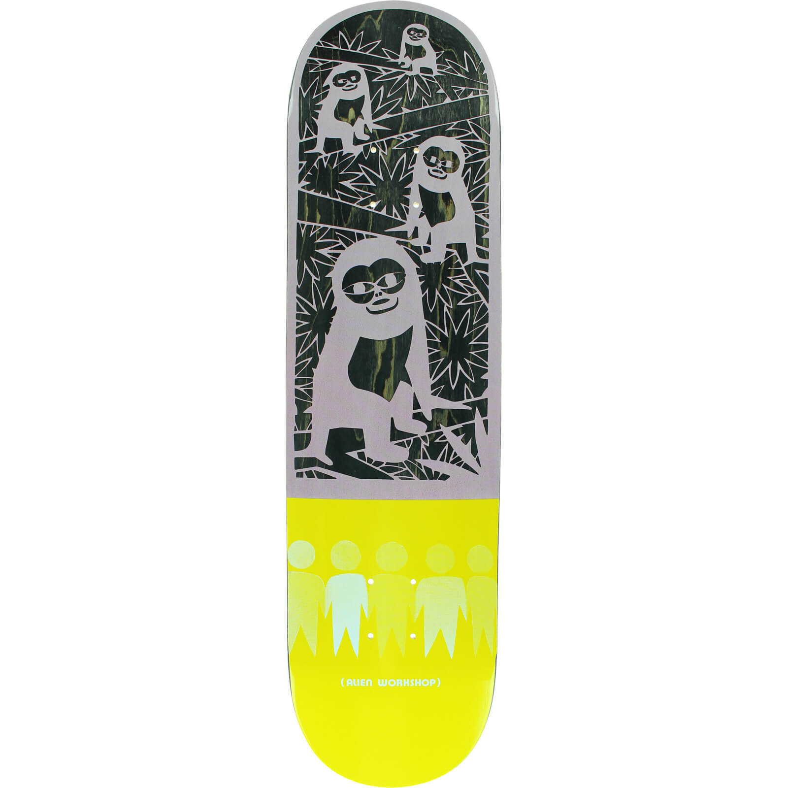 "Alien Workshop Paper Cuts Jungle Skateboard Deck - 8.37"" x ..."
