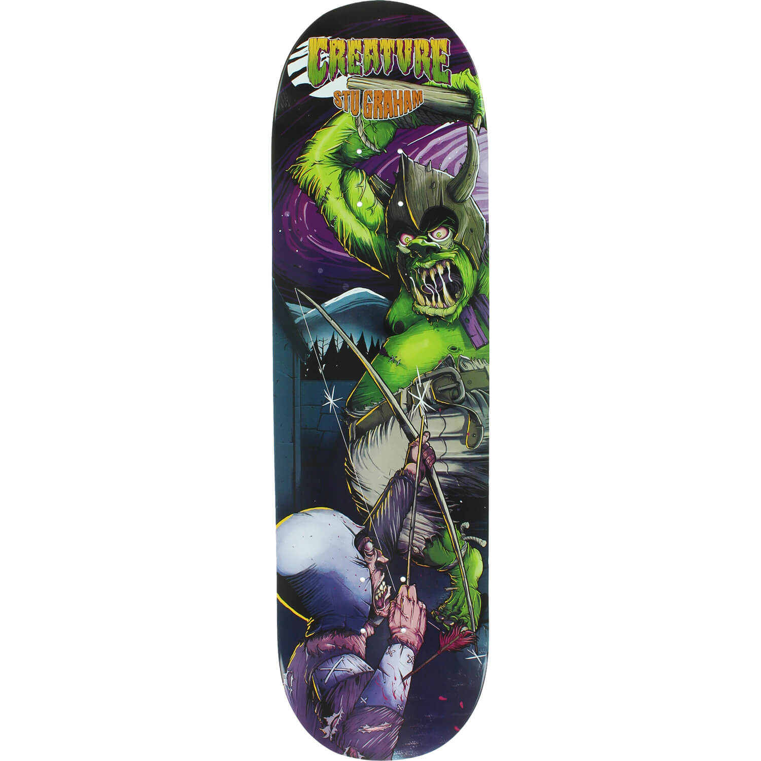 Creature Skateboards Stu Graham Ogre I Skateboard Deck 8