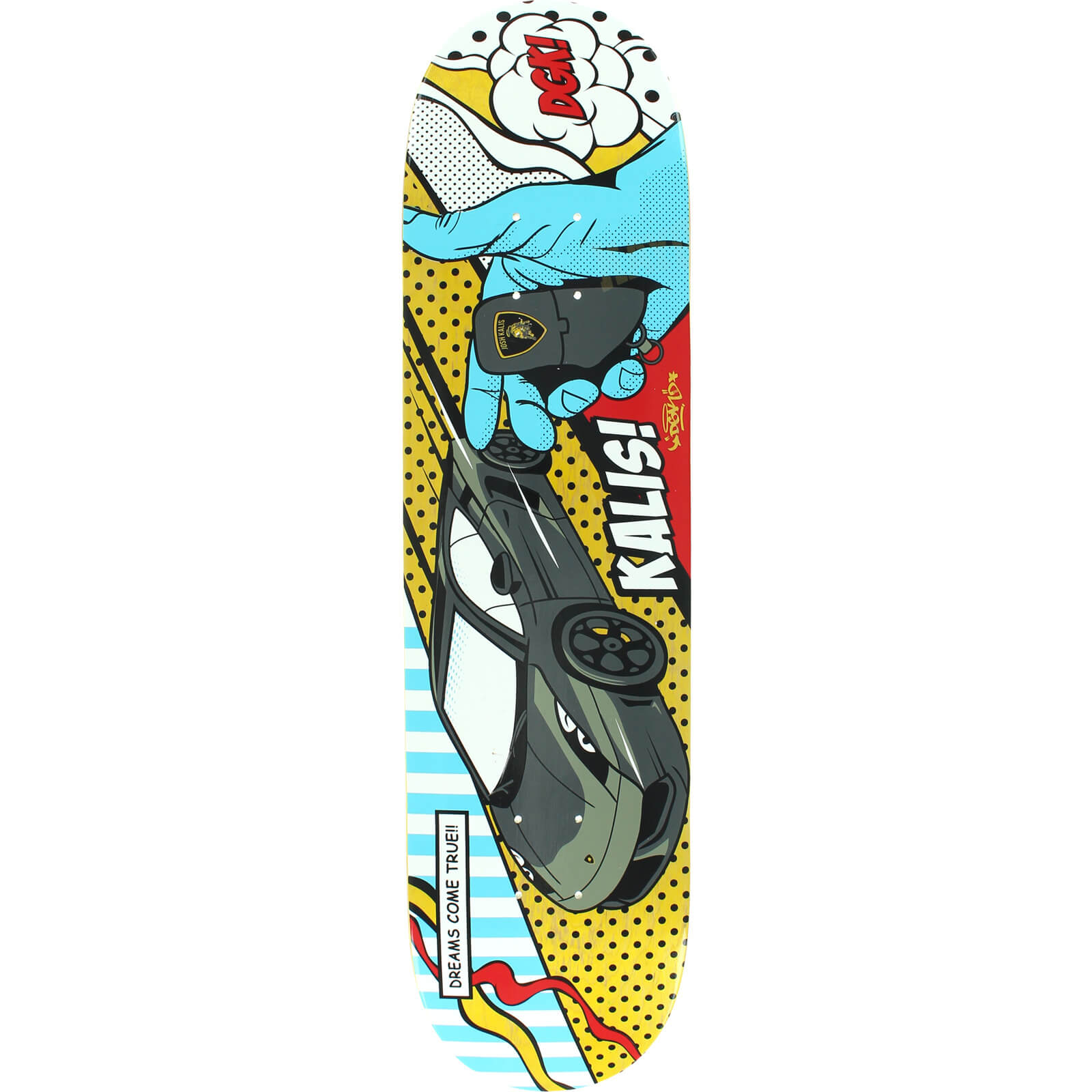 Dgk Skateboards Josh Kalis Life Of Skateboard Deck 7 8 X