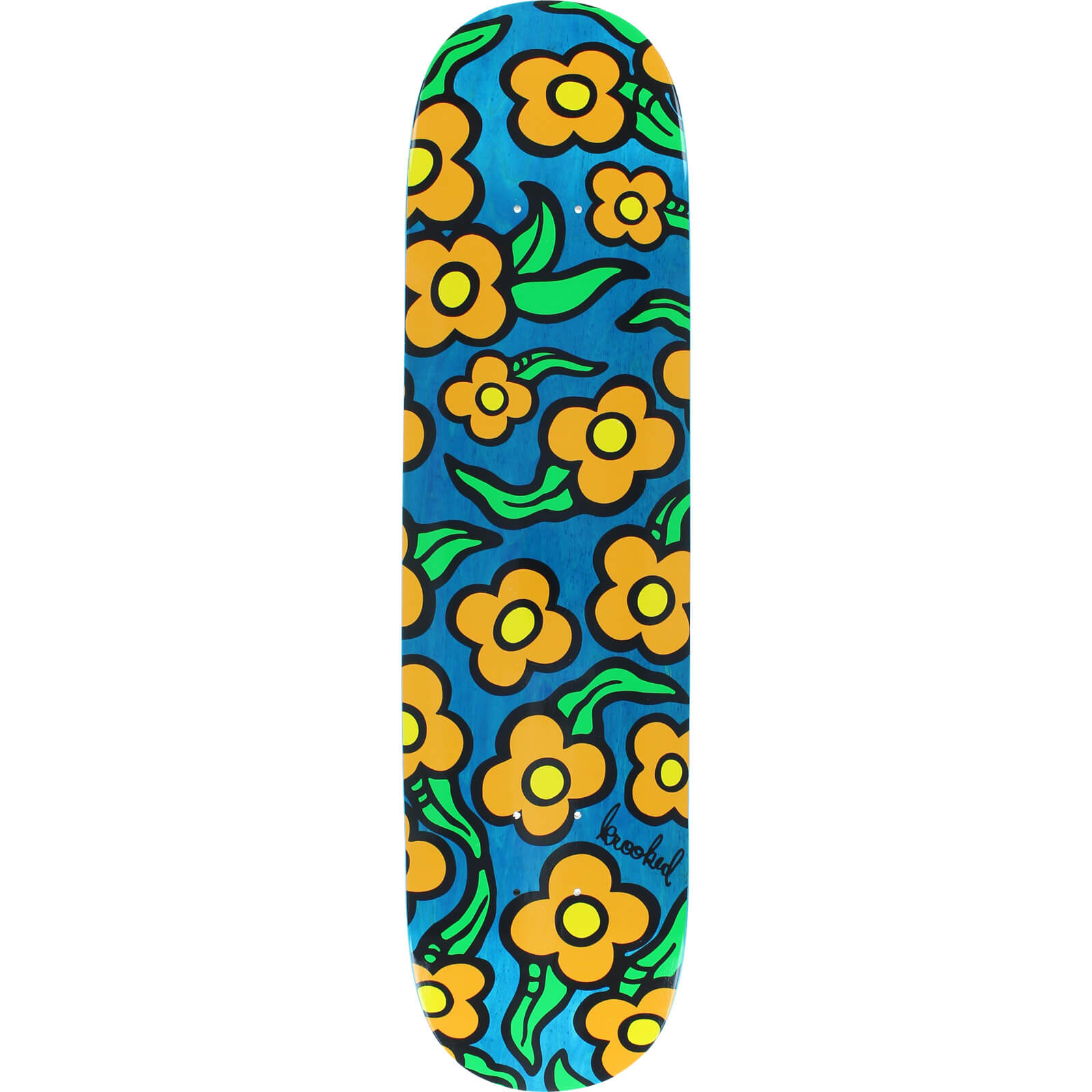 Krooked Skateboards Wild Style Flowers Skateboard Deck 7