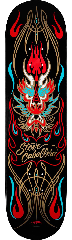 Powell Peralta Steve Caballero Pinstripe Black Skateboard