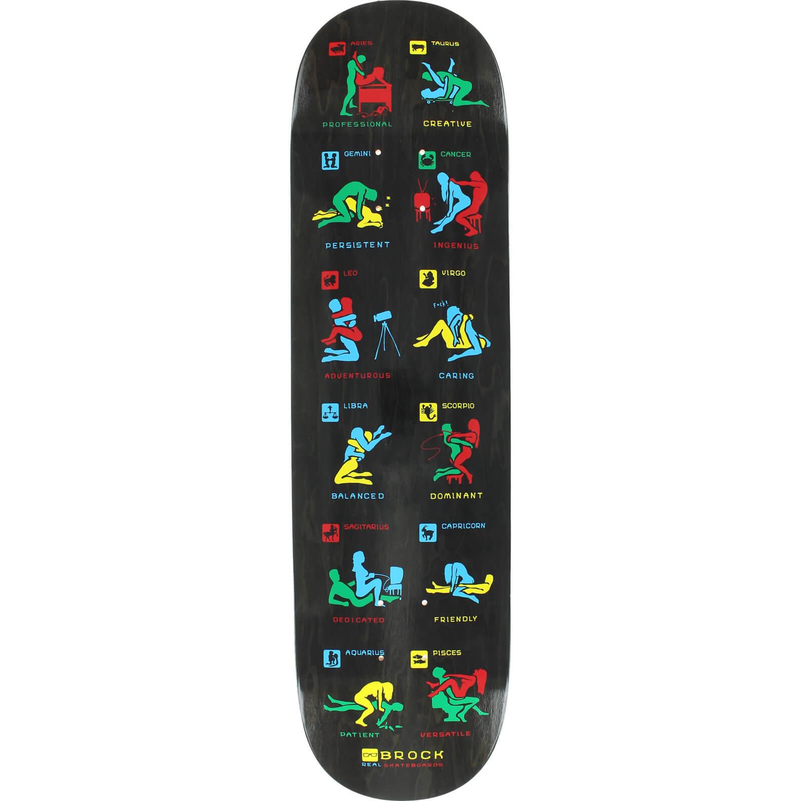Real Skateboards Justin Brock Zodiac Skateboard Deck 8