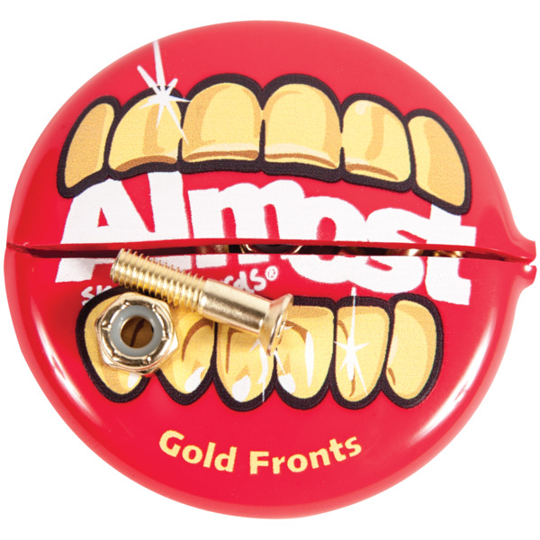 Almost Skateboards Allen Head Gold Nuts & Bolts Skateboard Hardware Set - 7/8""