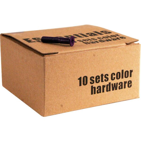Essentials 10 Purple Sets of Phillips Head Hardware