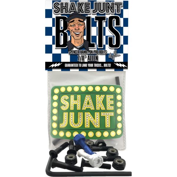 """Shake Junt Spencer Hamilton Phillips Head Black / Blue / White Skateboard Hardware Set - 7/8"""""""