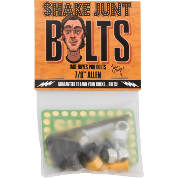 Shake Junt Jake Hayes Allen Head Black / Orange / White Skateboard Hardware Set - 7/8""