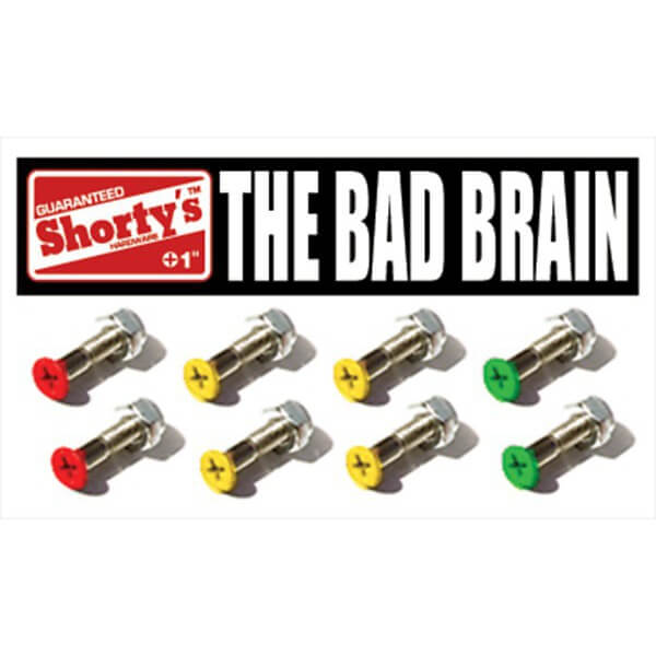 Shortys Skateboards Bad Brain Skateboard Hardware Set - 1""