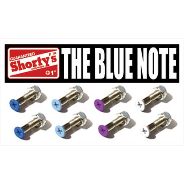 "Shortys Skateboards Blue Note Skateboard Hardware Set - 1"""