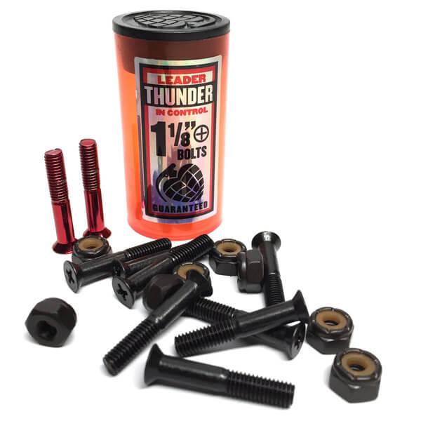 """Thunder Trucks Phillips Head Red Skateboard Hardware Set - 1 1/8"""""""
