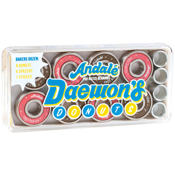 Andale Bearings 8mm Daewon's Donut Box Pro Rated Precision Skateboard Bearings