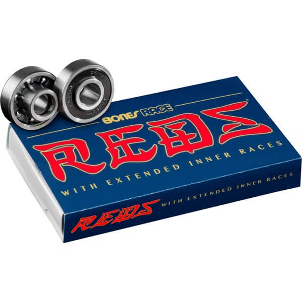 Bones Bearings - 8mm Bones Race REDS Skate Rated Skateboard Bearings (8) Pack