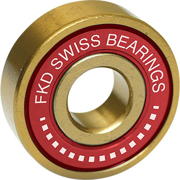 FKD Bearings Swiss Gold Skateboard Bearings