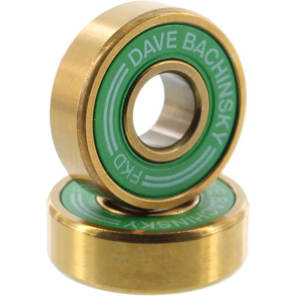 FKD Bearings Dave Bachinsky Pro Green / Gold Skateboard Bearings
