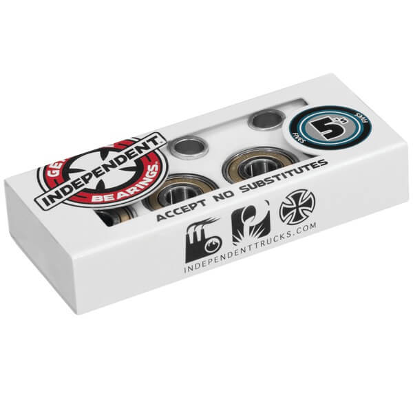 Independent 8mm 5s ABEC 5 Skateboard Bearings