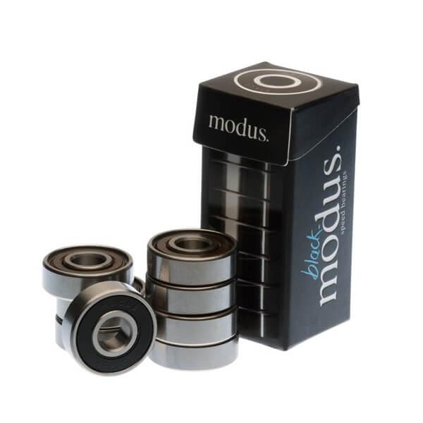 Modus Bearings 8mm ABEC 3 Black Skateboard Bearings