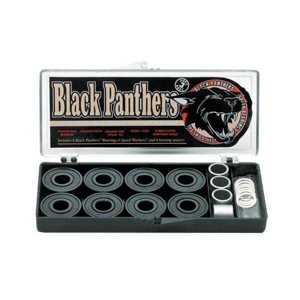Shortys Skateboards 8mm Black Panther ABEC 3 Skateboard Bearings
