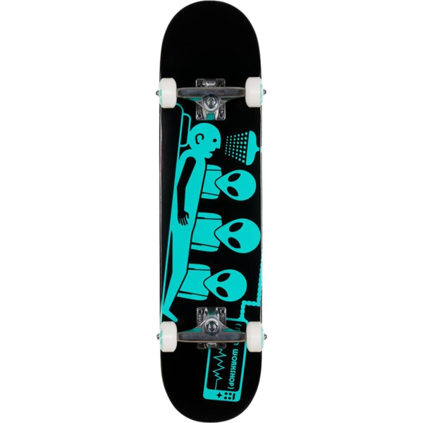 "Alien Workshop Abduction Black / Teal Complete Skateboard - 7.75"" x 31.625"""