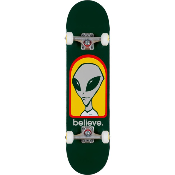 "Alien Workshop Believe Green Complete Skateboard - 7.75"" x 31.625"""