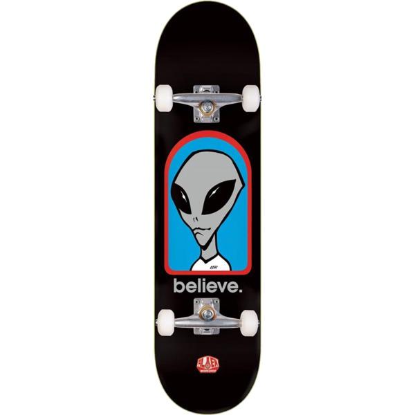 """Alien Workshop Believe Black Complete Skateboard - 8"""" x 31.625"""""""