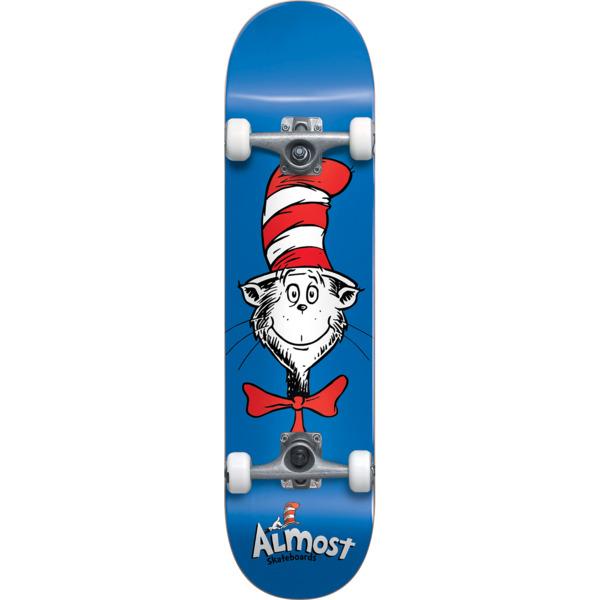 "Almost Skateboards Cat Face Blue Complete Skateboard - 7.87"" x 31.2"""