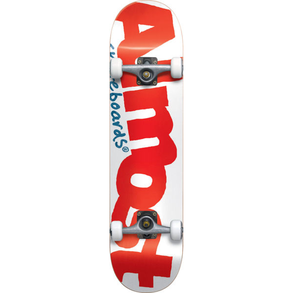 "Almost Skateboards Color Logo White / Red Mid Complete Skateboards Resin-7 - 7.37"" x 29.8"""