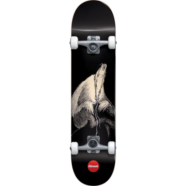 "Almost Skateboards Dr. Secret Art Black Complete Skateboard First Push - 7.875"" x 31.75"""