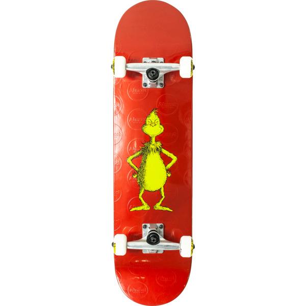 "Almost Skateboards Grinch Red Foil Complete Skateboard - 8"" x 31.6"""