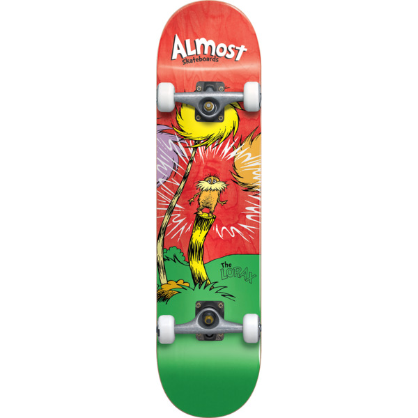 "Almost Skateboards Lorax Red Complete Skateboard - 8"" x 31.6"""