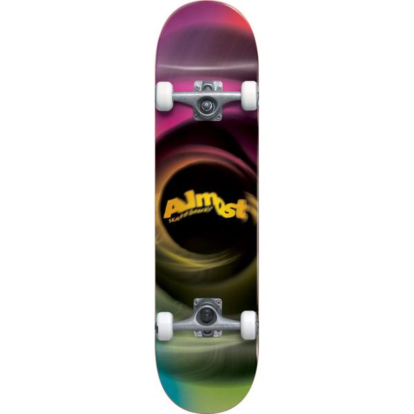 "Almost Skateboards Smear Magenta / Green Complete Skateboard - 7.75"" x 31.2"""