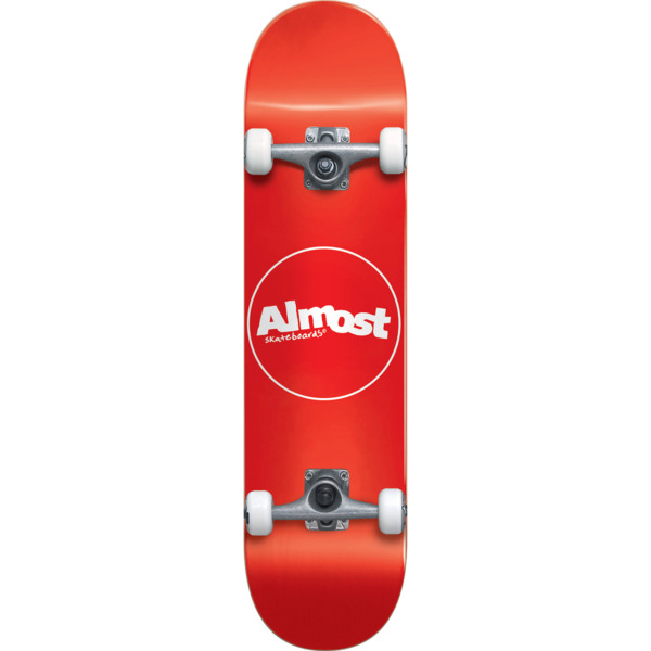 """Almost Skateboards Thin Line Red Mini Complete Skateboard - 7"""" x 29"""""""