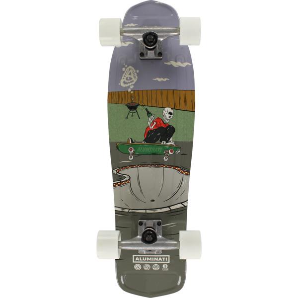 "Aluminati Skateboards Backyard BBQ Mullet Cruiser Complete Skateboard - 8.12"" x 28"""