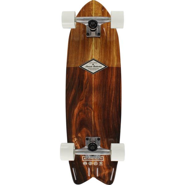 "Aluminati Skateboards Classic Wood Fish Cruiser Complete Skateboard - 8.12"" x 28"""