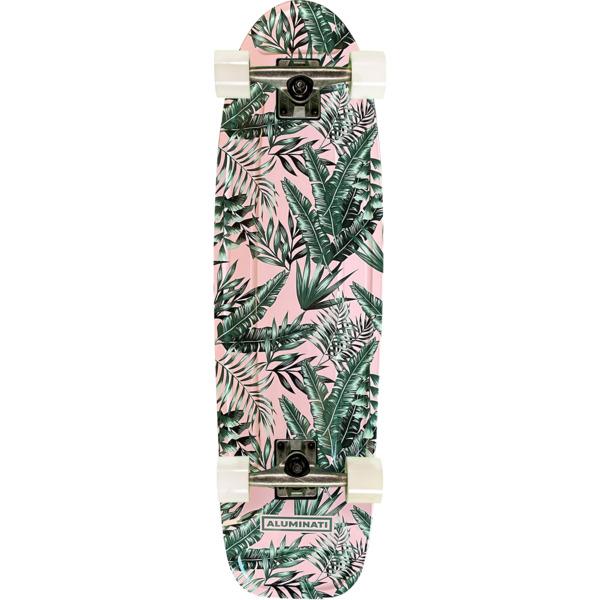 "Aluminati Skateboards Flush Floral Jerry Cruiser Complete Skateboard - 8.12"" x 28"""