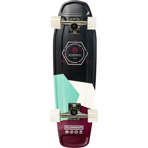 "Aluminati Skateboards Olliegon Tombstone Cruiser Complete Skateboard - 7.5"" x 26.5"""