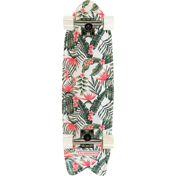"Aluminati Skateboards Paradise Fish Cruiser Complete Skateboard - 8.12"" x 28"""