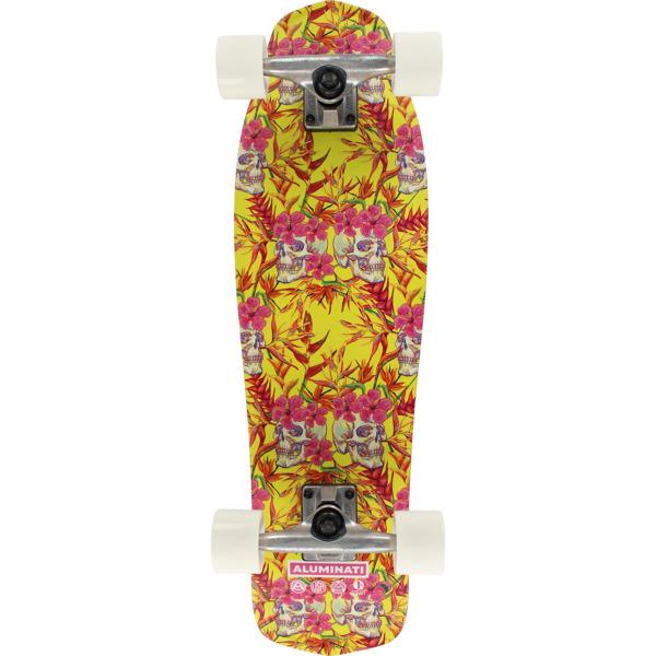 "Aluminati Skateboards Skulls Mullet Cruiser Complete Skateboard - 8.12"" x 28"""