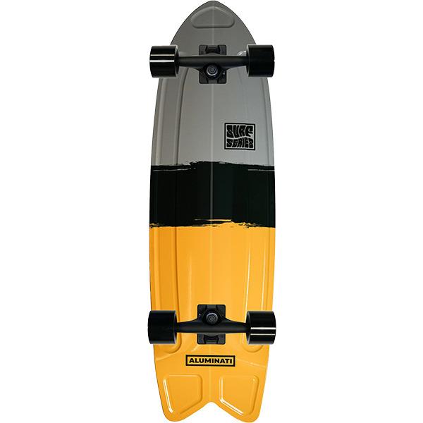"Aluminati Skateboards Summer Surf Fish Streak Cruiser Complete Skateboard - 8.12"" x 28"""