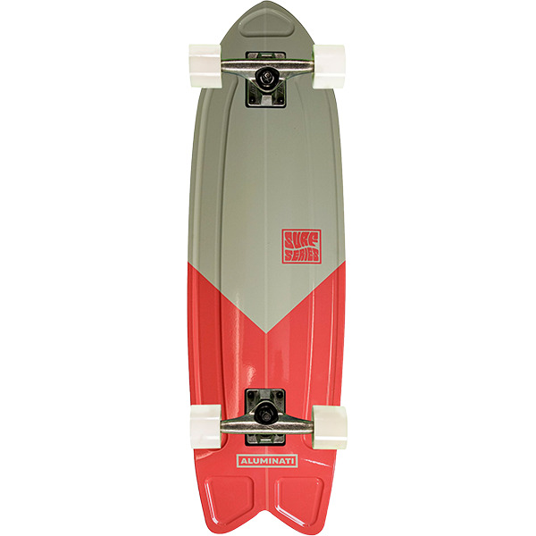 "Aluminati Skateboards Summer Surf Fish V-Cut Cruiser Complete Skateboard - 8.12"" x 28"""