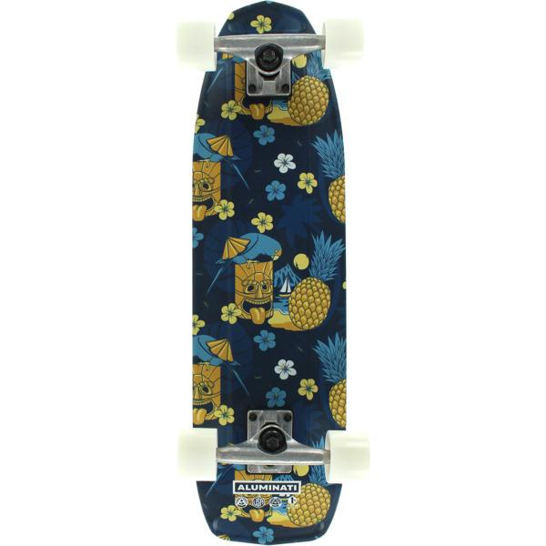 "Aluminati Skateboards Tiki Higgs Cruiser Complete Skateboard - 8.12"" x 28"""