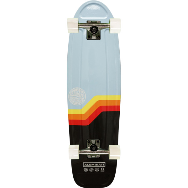 "Aluminati Skateboards Van Jerry Blue Cruiser Complete Skateboard - 8.12"" x 28"""